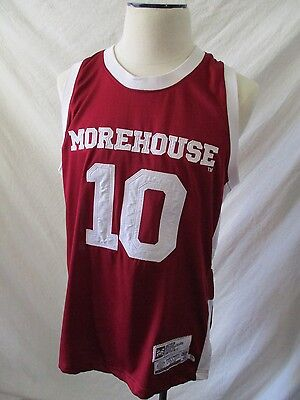Morehouse College Tigers 10 Headgear maroon white jersey tank top large