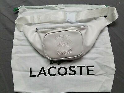 2104d13f SUPREME X LACOSTE Waist Bag Red Leather T-Shirt Stock X 100 ...