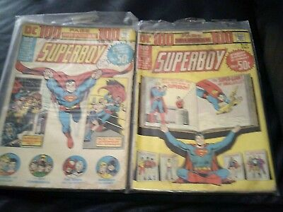 Two Superboy 100 Page Spectacular #DC-15 & DC-21 (GD/VG-) 1973 Bronze Age Giants