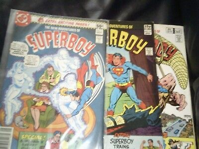 The New Adventures Of Superboy #9, #16,#35 Three Issue Lot 1980/82