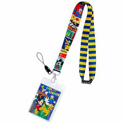 Mickey And The Gang Disney Striped Lanyard Blue