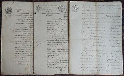 documents très anciens lot de 3 8 pages de 1863 - 4 pages de 1815 - 4 pages 1818