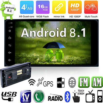 Android 8.1 Quad Core Car Stereo MP5 Radio Player 7'' 2DIN GPS Navi AM FM WiFi