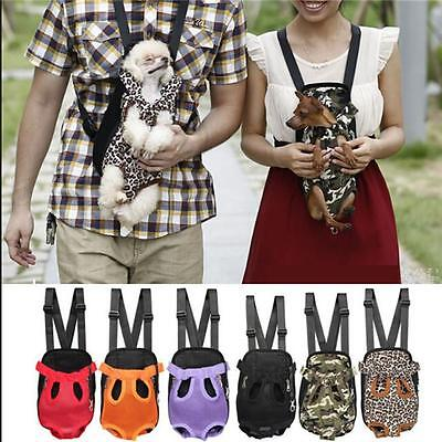 Nylon Pet Puppy Dog Cat Carrier Backpack Front Net Bag Tote Sling Carrier DB