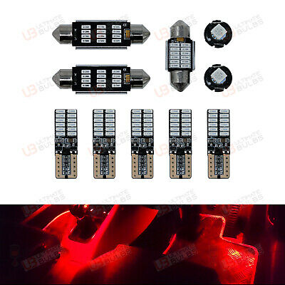 RED Premium Interior LED Kit - Fits VW Caddy - Bright SMD Bulbs