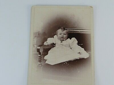 Vintage Antique Photo Infant Baby Toddler Child Photograph WI 27770 Dawson