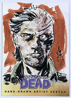 2013 Cryptozoic Walking Dead Comic Set 2 Dwight Sketch Card by Clayton McCormack