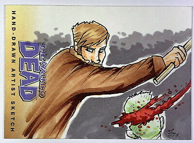 2013 Cryptozoic Walking Dead Comic Set 2 Sketch Card by Mike Vasquez