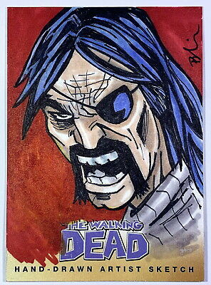 """2013 Cryptozoic Walking Dead Comic Set 2 """"The Governor"""" Sketch Card by Unknown"""