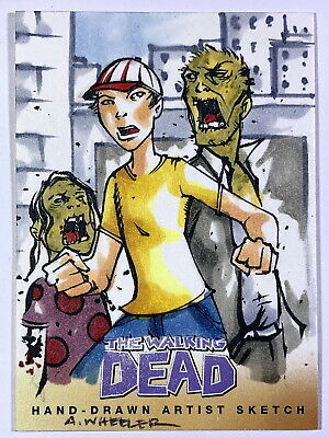 "2013 Cryptozoic Walking Dead Comic Set 2 ""Glenn"" Sketch Card by Anthony Wheeler"