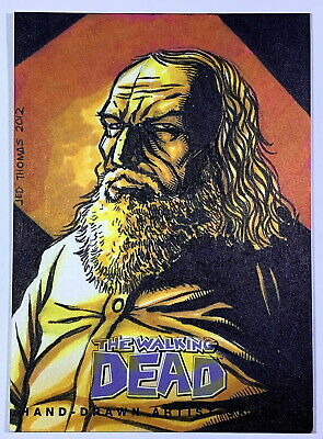 "2013 Cryptozoic Walking Dead Comic Set 2 ""Hershel"" Sketch Card by Jed Thomas"