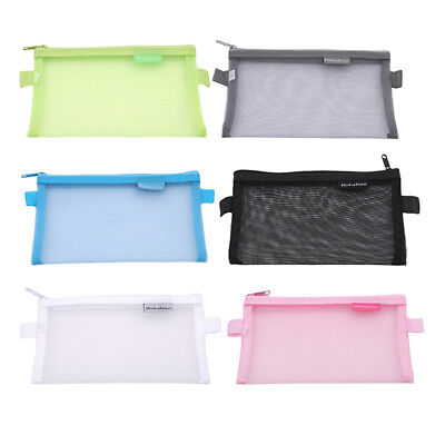Zipper Clear Makeup Pouch Toiletry Holder Pencil Pen Case Cosmetic Bag DB