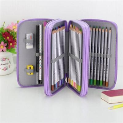 Multi Layers High Capacity Pencil Brush Case Box Pen Pouch Bag Makeup Storage DB