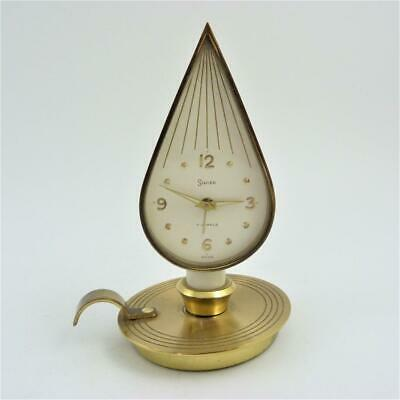 Vintage Swiza Swiss Made Alarm Clock Designed As A Chamberstick, Candle & Flame