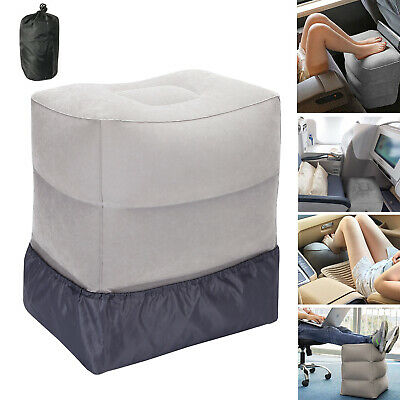 Inflatable Travel Footrest Leg Foot Rest Car Seat Pillow Portable Pad Kids Bed