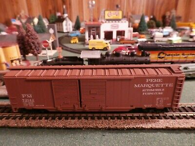 Athearn 5040 HO 50' Double Door Pere Marquette Rail car with box