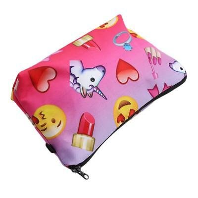 3D Unicorn Make Up Cosmetic Bag Pouch Purse Pencil Case Bag Travel Gift DB
