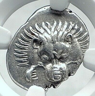 Dynasts of Lycia PERIKLES Ancient Silver Greek Coin LION TRISKELES NGC i77637