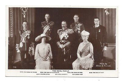 Vintage RP postcard The Royal Family - H M King George V, HM Queen Mary...