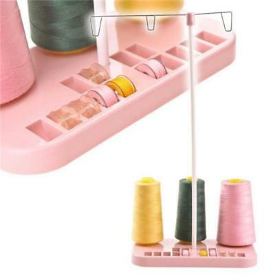 Sewing Machine Adjustable Embroidery 3 Thread Holder Stand Rack Hobbin DB