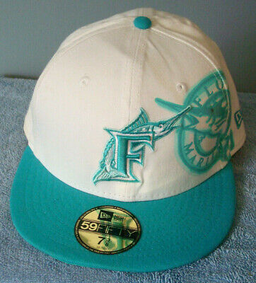 new concept ba303 3381f Miami Florida Marlins Cap - New Era 59Fifty 5950 - Fitted Hat 7 3 8