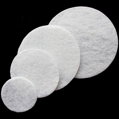 100Pcs White Round Felt Pads Fabric Flower & Brooch Back Non-woven Circles A0290