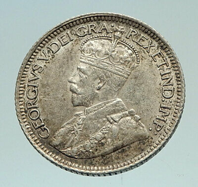 1936 CANADA - Original Antique Silver 10 Cents Coin under King GEORGE V i76971