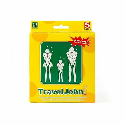 5 Pack Travel John Disposable Sanitary Vomit/Urine Bag For Children and Adults