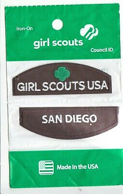 San Diego ~ Brownie Girl Scouts Council ID Patch Set NEW Made in USA