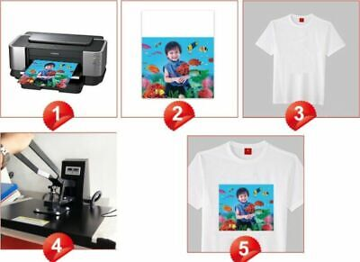 50 Sheets A4 Iron Heat Transfer Paper For The Light Cotton T-shirt Phone Case