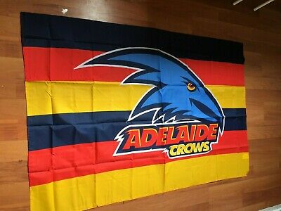 Afl  Adelaide Crows Original Wearing Cape Flag 150 X 100 Cm Brand New