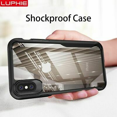Shockproof Armor Case For iPhone XS XR 8 7 Plus Transparent Case Cover Silicone