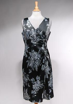 b6aac8626c4 SIZE 4 - DONNA RICCO Womans Brown Ruched Floral Sheath Dress ...