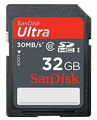 SanDisk 32GB Ultra UHS-I SD 30MB/s Full HD Video 32G SDHC Memory Card