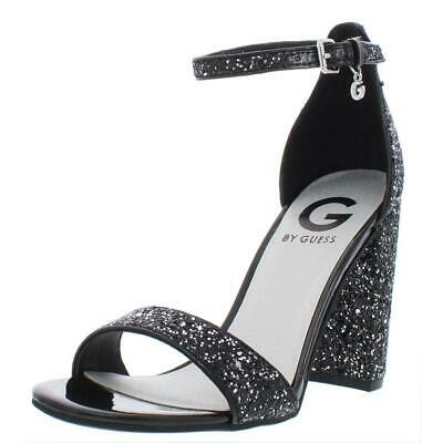 c5b35e99f62 Guess Womens Shantel 7 Glitter Ankle Strap Heels Dress Sandals Shoes BHFO  1095