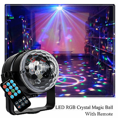 AU New Disco Party DJ LED RGB Stage Effect Light Lamp Laser Crystal Magic Ball