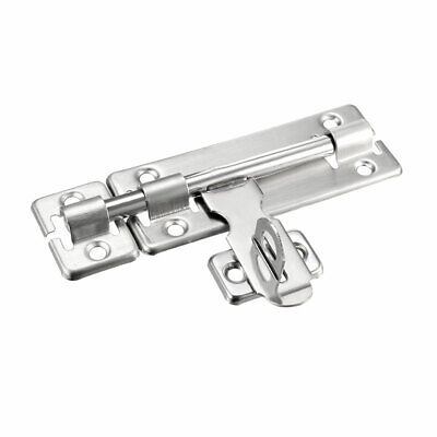Sliding Bolt Gate Latch, 6-inch Stainless Steel Door Hasp with Padlock Hole