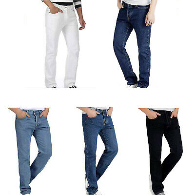 Deyllo Men's Jean Pant Denim Trousers Slim Straight Fit Classic Relaxed Pant AR5