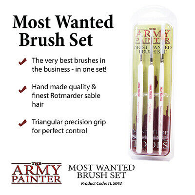 The Army Painter BNIB Most Wanted Brush Set (2019) APTL5043