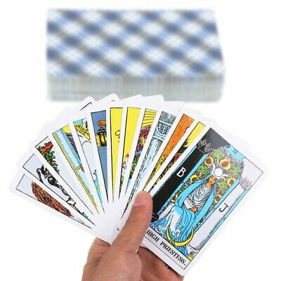 78Pcs Rider Waite Tarot Magician Card Cards Deck Cards English Full Version JU