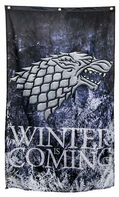 """Game of Thrones Wall Banner Flag (30"""" by 50"""") (Stark Winter is Coming)"""