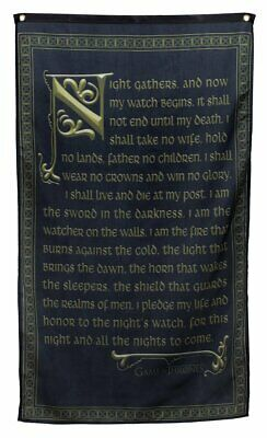 "Game of Thrones Wall Banner (30"" by 50"") (Night's Watch Oath)"