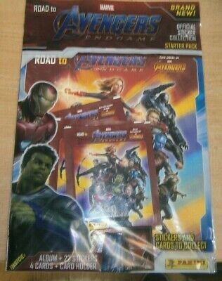 Panini Marvel Avengers EndGame Stickers collection Starter Pack + 22 stcickers