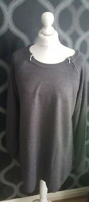 BNWT M&S MATERNITY & BEYOND Charcoal Easy Feed  Jumper Size 12 MARKS & SPENCER
