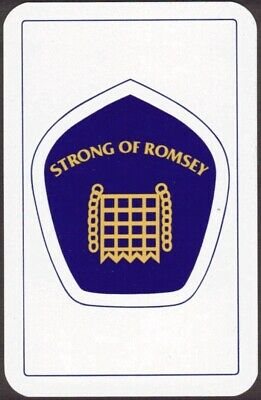 Playing Cards Single Card Old STRONG OF ROMSEY Brewery Advertising Art Beer Ale