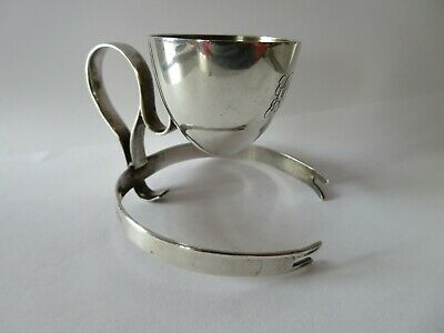Antique Solid Silver Egg Cup 1913 Hukin & Heath by Christopher Dresser