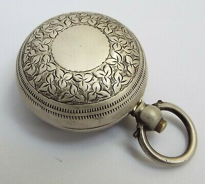Beautiful Decorative English Antique 1900 Solid Sterling Silver Sovereign Case