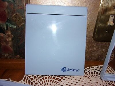 """Vintage Collectible Light Blue Artistry Amway 2 Sided Makeup Mirror 5 x 6"""" NOS"""