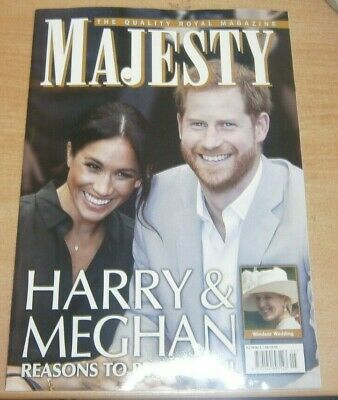 Majesty magazine Vol 40 #5 2019 Harry & Meghan Reasons to be cheerful & more