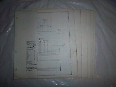 1985 ford ranger bronco ii foldout wiring diagram electrical schematic oem
